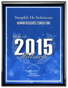 Simplifi HR Solutions Best of 2015 Hilliard Award